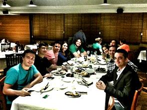 Jantar em Brasilia, com novos e antigos amigos!