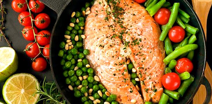 alimentação inteligente salmão