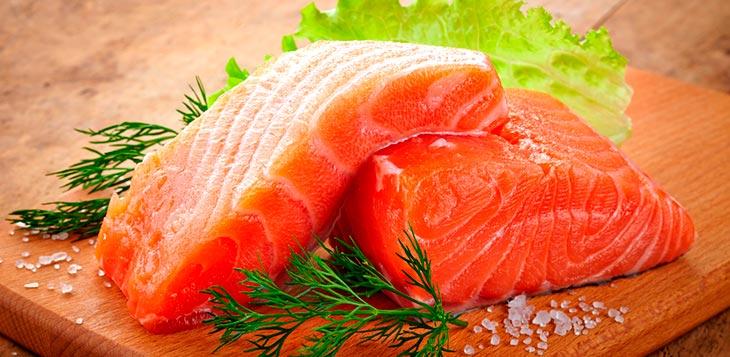alimentação saudável salmão
