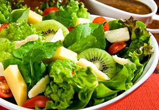 Ingira grandes quantidades de vegetais verdes folhosos