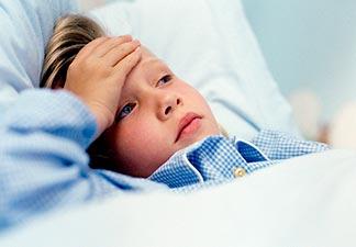 criança com anemia