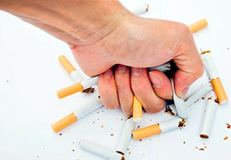evitar o uso de tabaco